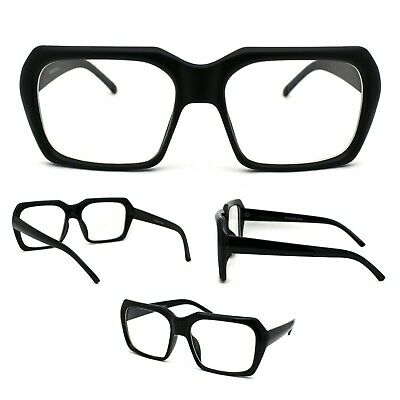 Huge XL Oversize Thick Plastic Nerdy Rectangular (Thick Nerdy Glasses)