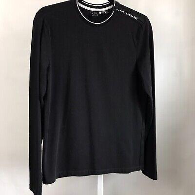 Armani Exchange Mens long sleeve shirt black S/XS
