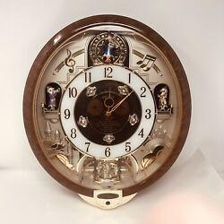 Seiko Melodies In Motion Clock Swarovski Crystals QXM134BRH 8 Beatles Elvis Song