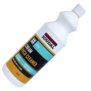 uPVC Pvc PVCu  Cream Cleaner  - Window Door Conservatory Frame  1Ltr by Soudal