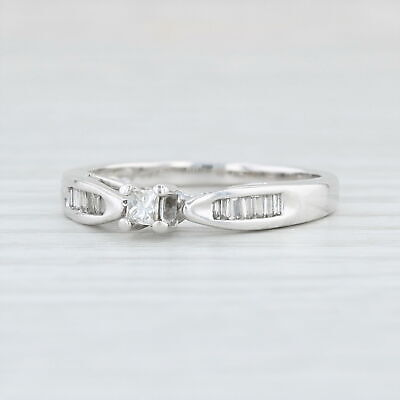 19ctw Diamond Engagement Ring 10k White Gold Size 7 Cathedral Band