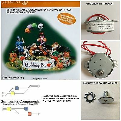 Halloween Animation Motors (DEPT 56 Animated Halloween Festival-model:56.53229- REPLACEMENT MOTOR -PARTS)