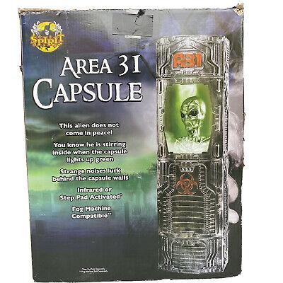 Animated AREA 31 CAPSULE Spirit Halloween Alien Prop in Box