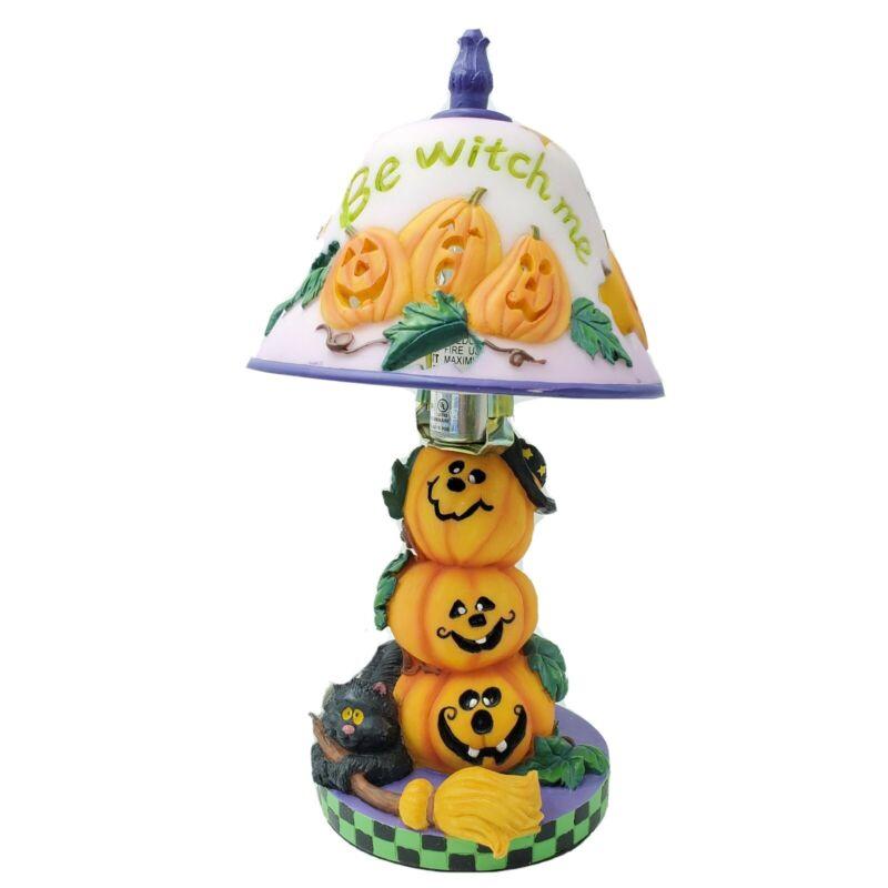 Halloween Lamp Small Bedside Office Ceramic Pumpkins Black Cat Lighting Decor