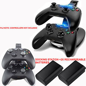 DUAL USB CHARGER DOCKING STATION FOR XBOX 360 WIRELESS CONTROLLER + 2x BATTERIES