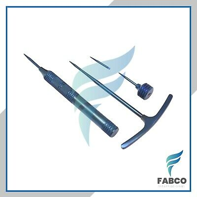 Dental Root Screw Extraction Root Extraction Periotome Blue Titanium Coated