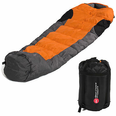 Mummy Sleeping Bag 5F  15C Camping Hiking With Carrying Case Brand New