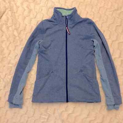 Ivivva LuluLemon girls Blue Zip Jacket Thumb holes
