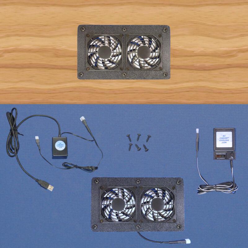Computer & AV Cabinet/Desk USB-controlled multi-speed cooling fans