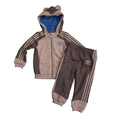 adidas Originals Kinder Monkey Trainingsanzug Baby Sport Anzug Affe Braun