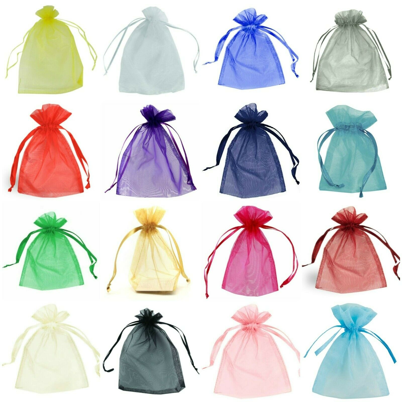 Jewellery - 25-100 ORGANZA BAGS. Jewellery, Wedding Favour, Birthday Party, Gift Bag Pouches