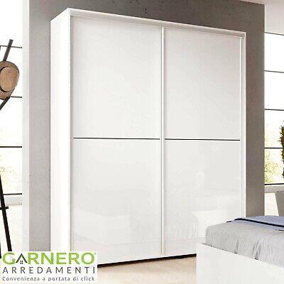 Armadio ante scorrevoli bianco lucido 150 cm ROMA camera da letto moderna design
