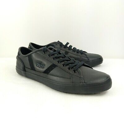 Lacoste Mens Shoes Black and Gold Size 9.5
