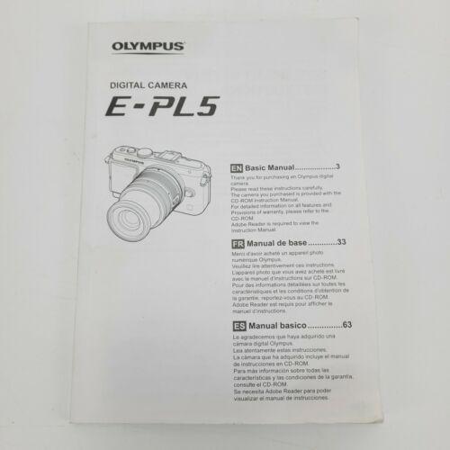 Olympus Digital Camera E-PL5 Manual Instructions User Guide