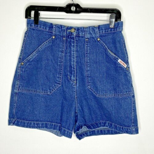 Vintage Bill Blass Denim Blue Jean Shorts Womens 8 High Waist 100% Cotton