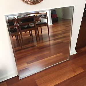 Quality aluminium framed square mirror -  Pilkington Optimirror Downer North Canberra Preview