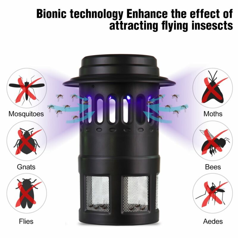 New 8PCS LED LIGHTS 4W UV Mosquito Killer Insect Killer Bug Zapper with Fan