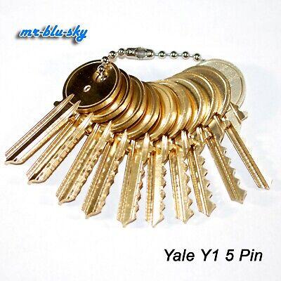 Yale Y1 Space Depth Keys Locksmith Code Cutting Key Set