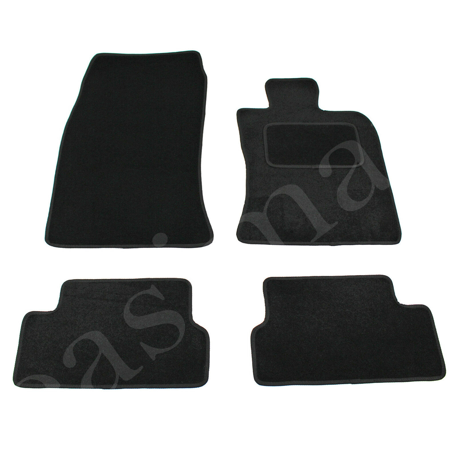 Car Parts - BMW Mini One Cooper Mk 2 Tailored Carpet Car Mats 2007-2013 Black 4pc Floor Set