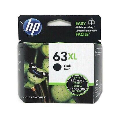HP 63XL Black GENUINE Ink Cartridge in RETAIL BOX 63 XL War 2021 or Better