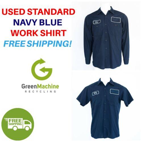 Used Work Shirts Cintas, Redkap, Unifirst, G&K Navy Blue FREE SHIP
