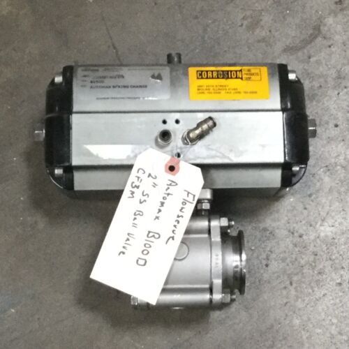 "Flowserve AUTOMAX actuator B100D 2"" Stainless Ball Valve Automatic Spring"