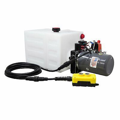 Double Acting Hydraulic Pump For Dump Trailers Kti - 12vdc - 13 Quart Reservoir