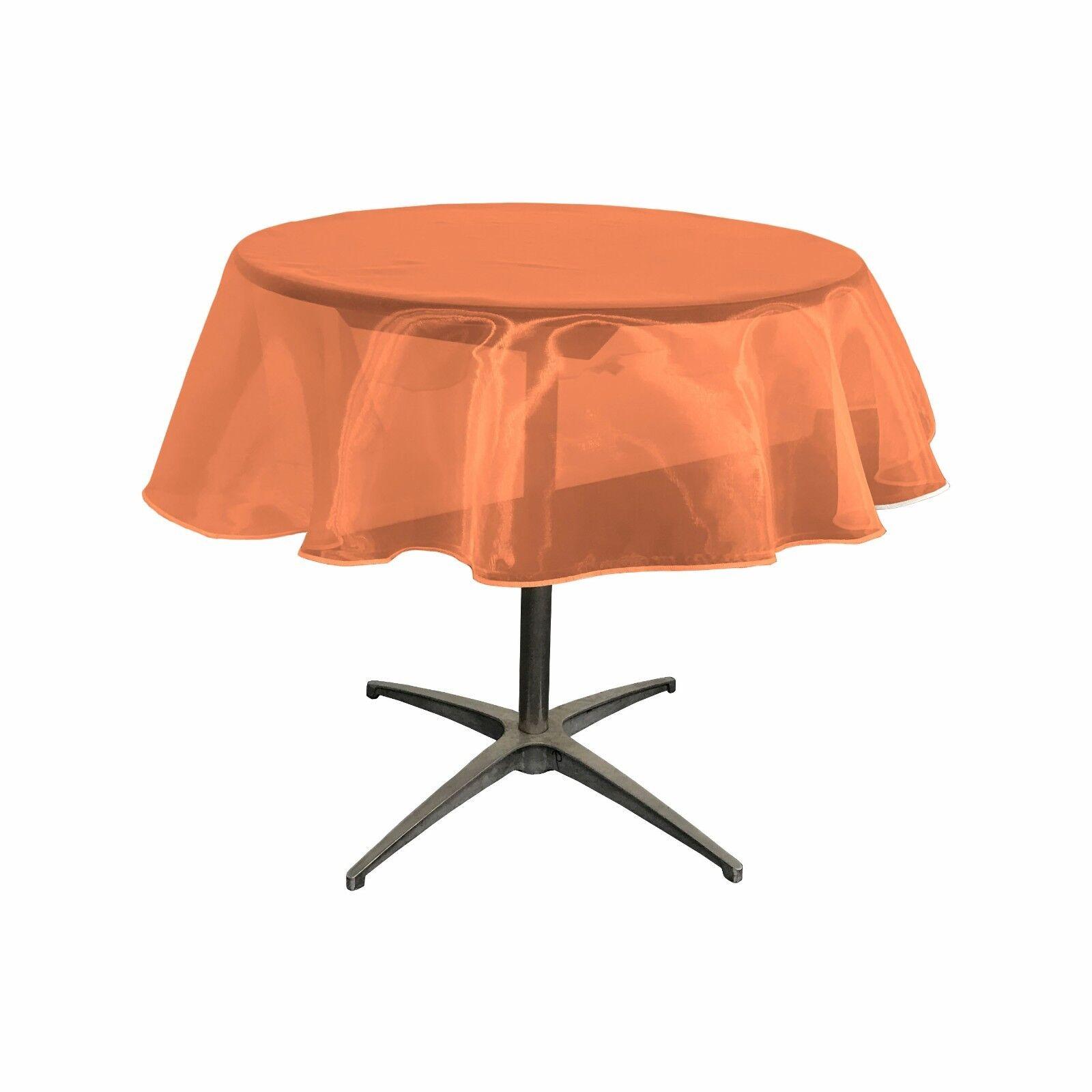 sheer mirror organza tablecloth 51 inch round