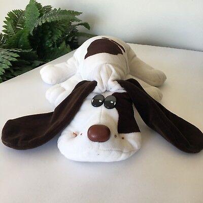 """1985 Tonka Pound Puppy White Brown Plush 20"""""""