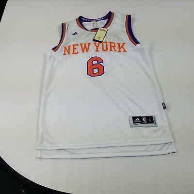 NY Knicks Jersey Large Men's Kristap Porzingis White Away NBA Adidas SNAG ffad