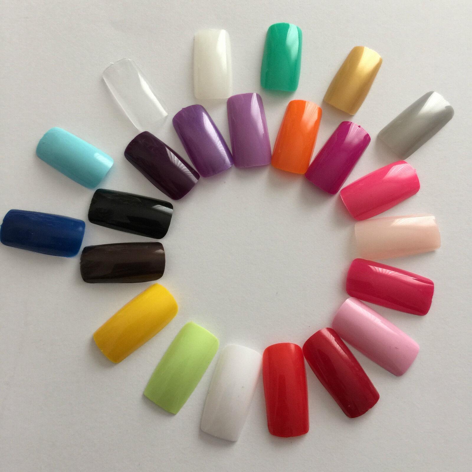 Künstliche Fingernägel Full Size Cover Tips in vielen Farben Fake Nails Wow