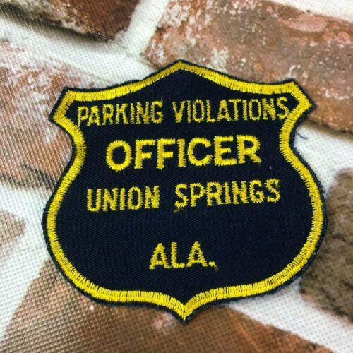 Parking Violations Officer Union Springs ALA. Patch Iron/Sew on