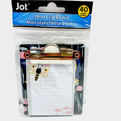 Jot Butterfly Mini Clipboard With Notepad 40 Sheets 3.25 X 3.50