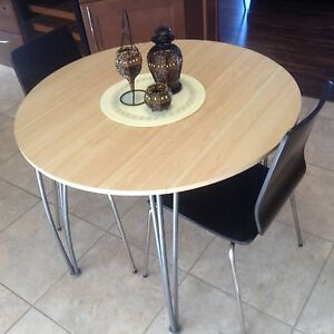 Contemporary Table with 2 IKEA Vilmar Chairs