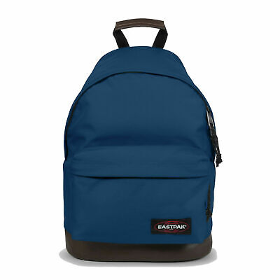 Eastpak Wyoming Lederboden Schul-Rucksack blau dunkelblau blue Schultasche