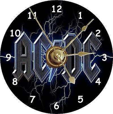 BRAND NEW AC/DC Rock Band CD Clock