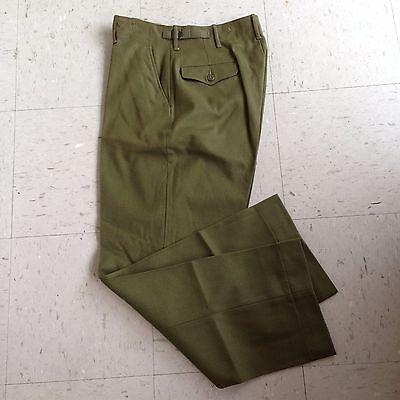 US Army M-1951 Wool Field Trousers OG-108 Small Reg 31 Waist Korean War Era