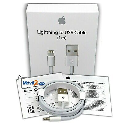 Cable Lightning Original 100% Apple Carga MD818 1m *Caja Retail* iPhone 6s...