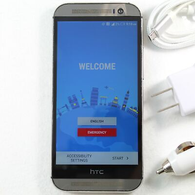 HTC One M8 0P6B700 32GB Gunmetal Gray (Sprint) Smartphone 4G LTE - Fast Shipping