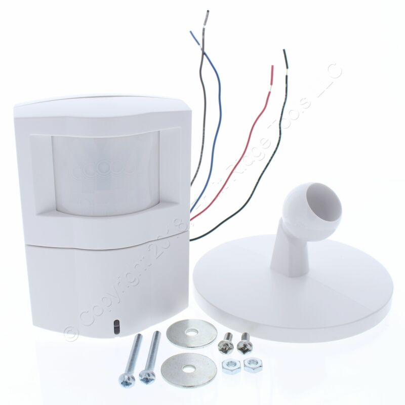 Cooper White Wall/Corner Passive Infrared Low Voltage Occupancy Sensor 90ft WSP