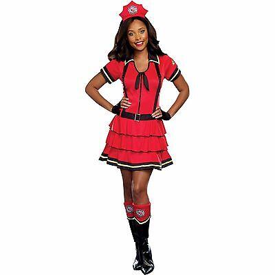 New Fire Fighter Sexy Hot Women's Halloween Costume - Hot Firefighter Halloween Costume