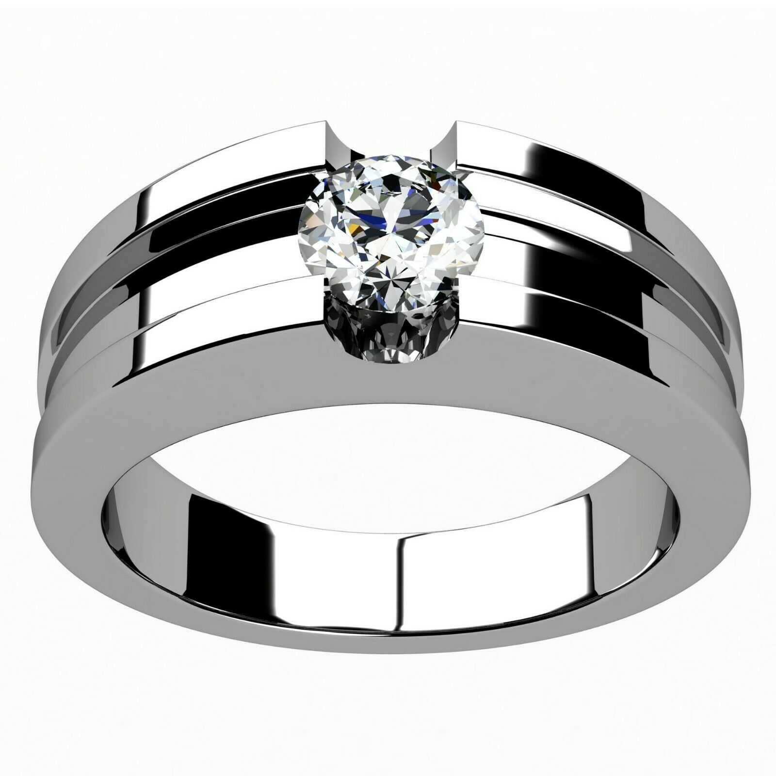 Natural GIA Certified Round Cut Diamond Solitaire Engagement Ring 14k 0.70 Carat