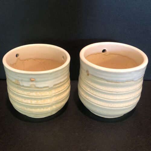 Vintage Ceramic Planter Pots for Hanging Made in Japan Set of Two