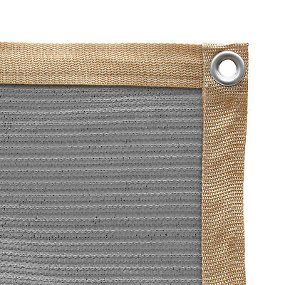 Shatex Shade Fabric for Pergola/Patio/Garden Shade Panel with Grommet Grey ()