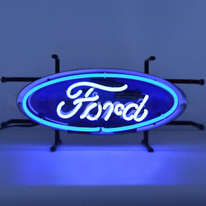 Ford Oval Neon Sign - Genuine Parts - Dealership - Mustang - Trucks - Service