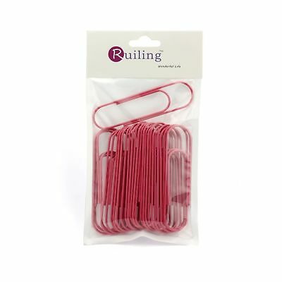 Ruiling Pink Paper Clips 4 Inch 100mm Mega Large Jumbo Giant Big Paper Cli...