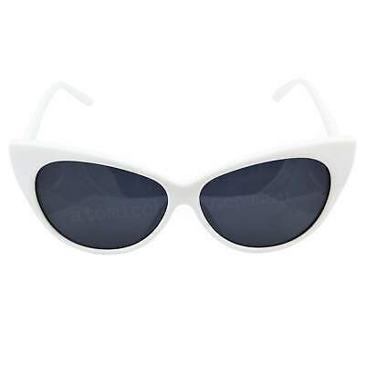 Cat Eye Sunglasses White Retro Rockabilly Pin Up 50's Tipped Pointed Chic Cool