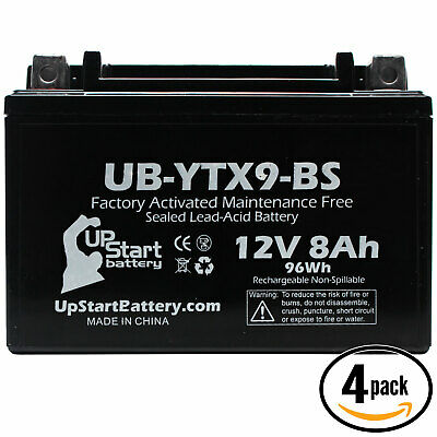 4x Battery for 1999 - 2012 Honda TRX400X, EX, Fourtrax, Sportrax 400CC