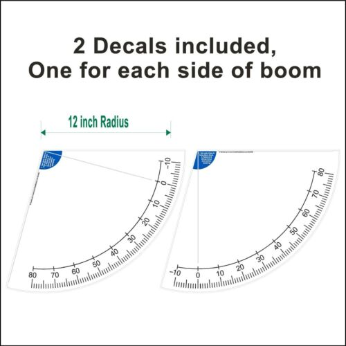 12 inch Crane Boom Angle Indicator Decal Kit Left and Right Side