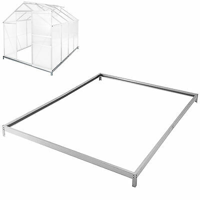 Greenhouse base foundation 250 x 190 cm steel galvanized frame green house new